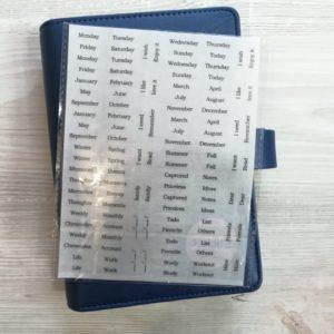 Наклейки для оформления ежедневника