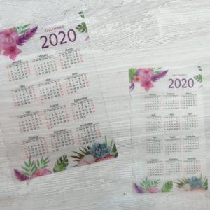 Календарь на 2020 год, для ежедневника форматов А5, А6