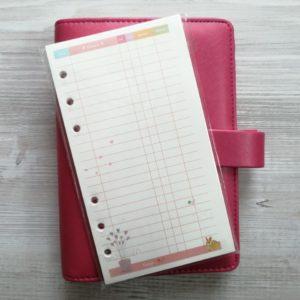 Цветные бланки для записей с рисунками, финансы