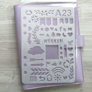 Трафарет - разделитель для ежедневника формата А5
