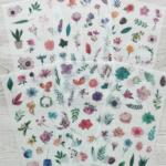 Тематические наклейки Цветы для ежедневников