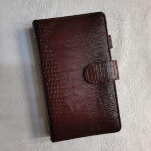 Ежедневник на кольцах шоколадно-коричневого цвета, формат А6