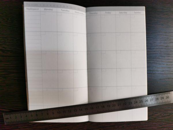 Тетрадь для ежедневника, план на месяц