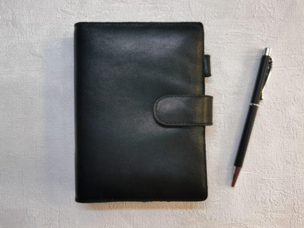 Ежедневник из кожи черного цвета формат А7
