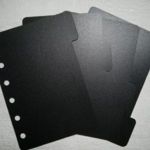 Разделители для ежедневника формата А7 черные
