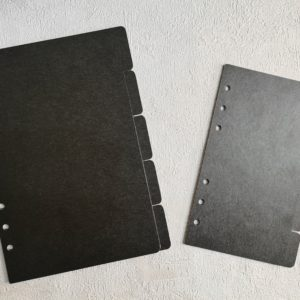 Разделители для ежедневника формата А5, А6 черные